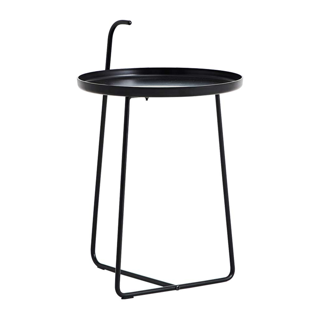 Coffee Tables Telephone Tables Telephone Table Desk Magazine Table Bedroom Bedside Leisure Desk Simple Modern Metal Wrought Iron Side Corner Black Matte Nordic Round Small Console Table by Coffee Tables