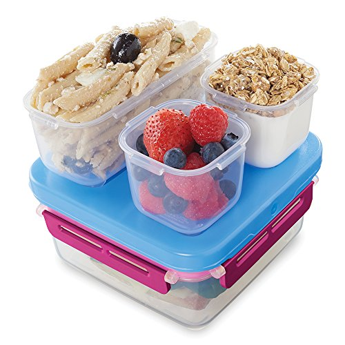 Rubbermaid LunchBlox Leak-Proof Entree Lunch Container Kit, Small, Beet Red 2000578 (Rubbermaid Bento Storage Boxes)