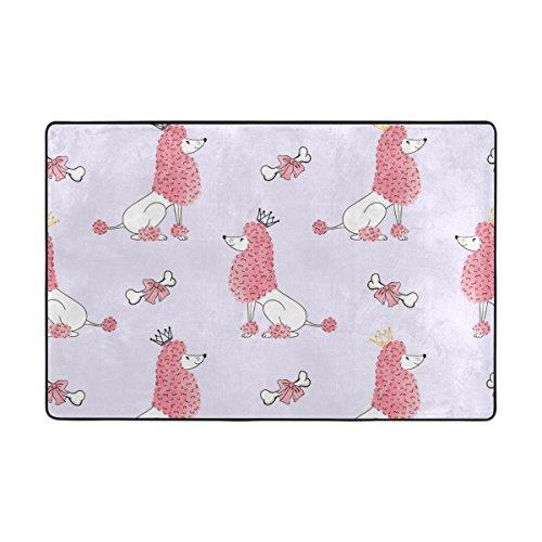 Vantaso Soft Foam Rugs Non Slip Poodle Dog Seamless for Kids Boys Girls Playing Room Living Room 36x24 (Season Poodle)