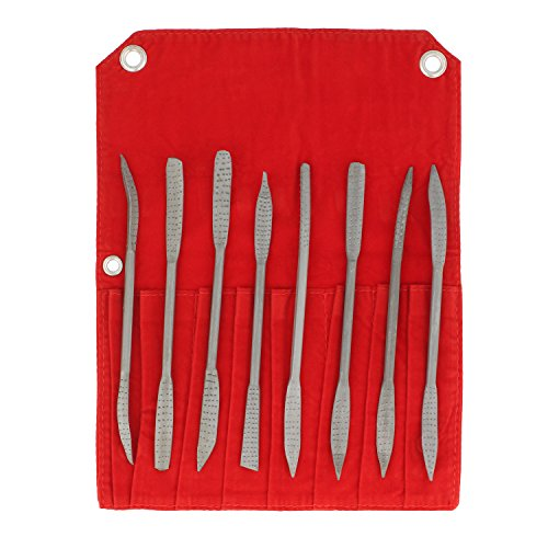 DCT Riffler File Riffler Rasp 8-Piece Set for Whittling, Sculpting, Smoothing, Shaping, Filing, Cutting Wood and Metal