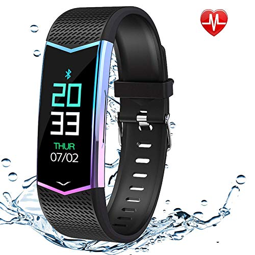 Fitness Tracker Color Screen, Waterproof Activity Tracker Smart Watch with Blood Pressure Heart Rate Monitor, Smart Wristband with Sleep/Step/Calorie Pedometer, Smart Bracelet for Women Kids Men