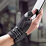 FUTURO Deluxe Thumb Stabilizer, Improves Stability, Moderate Stabilizing Support, Small/Medium, Black, 0.106 Lb