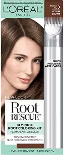 L'Oréal Paris Root Rescue Hair Color, 5 Medium Brown