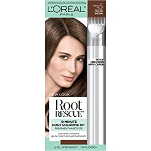L'Oreal Paris Root Rescue Root Colouring Kit, 5 Matches Any Medium Brown