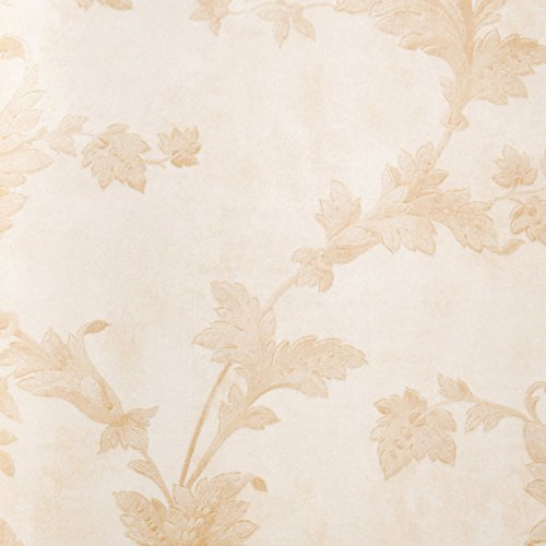 non-woven wallpaper/European-style small acanthus leaf wallpaper/ living room bedroom background wallpaper/enviroment protection wallpaper-C
