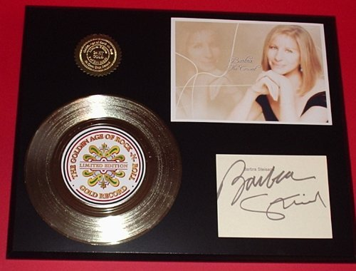 Barbra Streisand 24Kt Gold Record Signature Series LTD Edition Display Gold Record Outlet