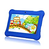 Tagital® 7 T7K Quad Core Android Kids Tablet, with Wifi and Camera and Games, HD Kids Edition with Kid Mode Pre-Installed Blue
