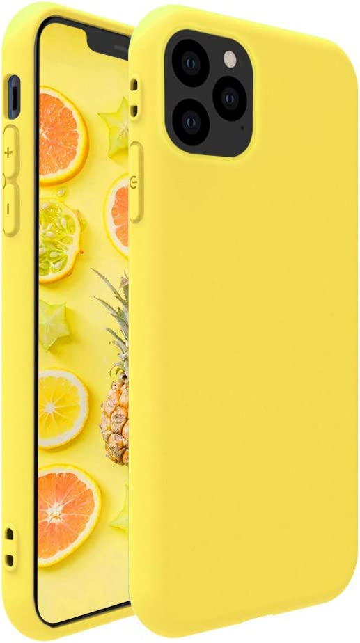 Pelipop Case for iPhone X/iPhone Xs Case 5.8 inch, Soft TPU Silicone Slim Skin Full Body Protective Phone Case for iPhone X/iPhone Xs 5.8,Yellow