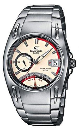 CASIO Edifice EF-319D-7AVEF - Reloj de Cuarzo con Correa de Acero Inoxidable para Hombre, Color Plateado: Amazon.es: Relojes
