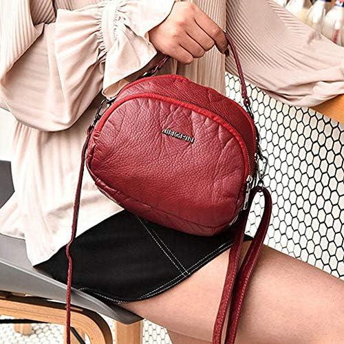 女性のダブルレイヤーソフトレザーハンドバッグクロスボディバッグ多機能ショルダーバッグ YZUEYT