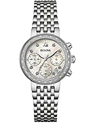 Bulova Stainless Steel Diamond Watch