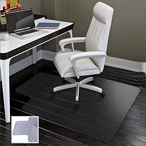 Chair Mat for Carpets | Low / Medium Pile Computer Chair Floor Protector for Office and Home | Transparent , Studded | Polypropylene Carpet Chair Mats | 36''x48''-by Alexes by Alexes
