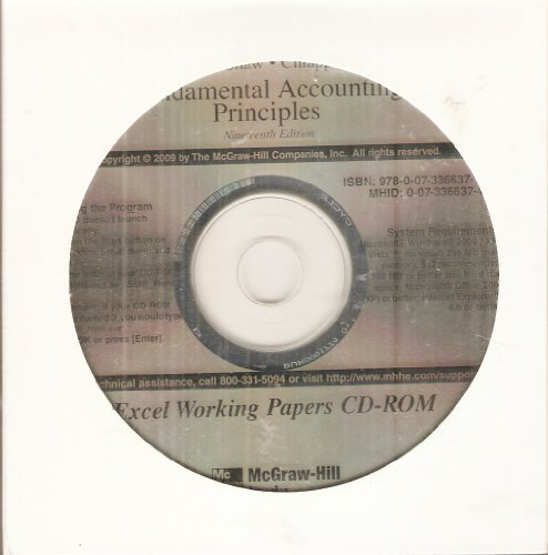 Excel Working Papers CD for Fundamental Accounting Principles 19th Edition ()