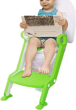 Aseo Escalera Asiento -Antideslizante Suave para Hombres Y Mujeres Bebés Multifunción Asiento De Inodoro Infantil Entrenamiento Inodoro Escalera HENGXIAO (Color : Green): Amazon.es: Hogar