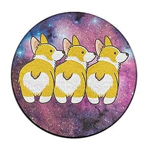 Funny Corgi corazón Butts antideslizante alfombrillas Circular alfombra alfombrillas comedor dormitorio alfombra Felpudo 23.6pulgadas