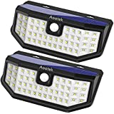 New Upgraded 48 LED Solar Lights with Wide Angle Illumination,Outdoor Motion Sensor Waterproof Wall Light Wireless Security Night Light with 3 Modes for Driveway Garden Step Stair Fence Deck 2pack