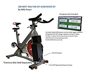 Pedal Power Exercise Bike Generator AC/DC - Emergency Power 12vdc and 110v ac power