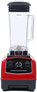 110V Commercial Countertop Smoothies Blender with 1500-Watts, 2L Glass Jar and Stirring Stick for Shake Coffee and Milk Tea (B)