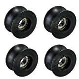 Letool 4pcs 608zz coated pa66 nylon 1.57inches bearing roller wheel 8x40x20mm U type groove pulley: more info