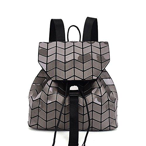 Geometrico Donna Coffee Scuola Rucksack Borsa Da Con Motivo XZWNB Rhombus Per Luminoso wP0IqRRE