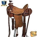 HILASON Western Horse Wade Saddle Leather Ranch Roping Dark Brown