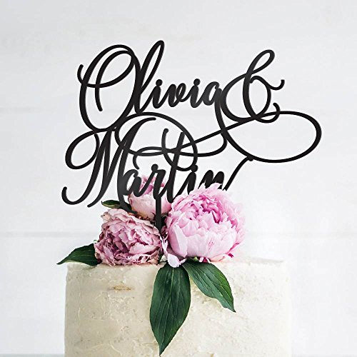 Personalized Wedding Cake Toppers, Custom Cake Topper Wedding Cake Decoration - Mr and Mrs Cake Toppers for Bride and Groom |Wedding Favors - B3 ()