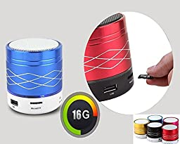 Mini bluetooth speaker, inShang 7 colors Flash LED Bluetooth mini speaker support hands free and TF card/USB, FM radio, and with 3.5mm AUX cable