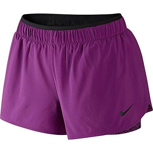 New Nike Women's Full Flex 2-in-1 Twist Shorts COSMIC PURPLE/COSMIC PURPLE/BLACK/BLACK Small
