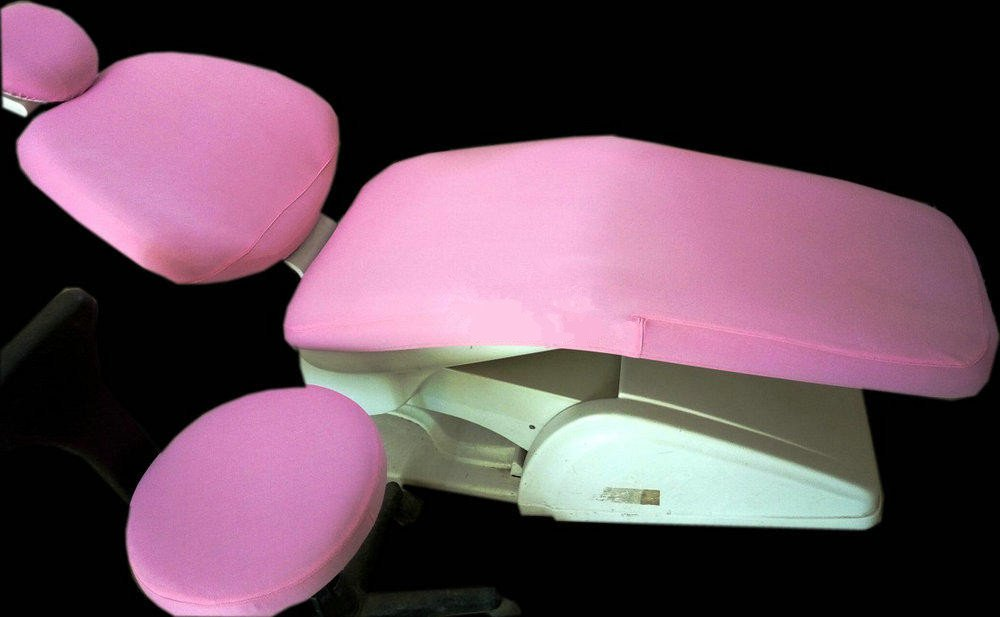 1 Set Dental Dentist Chair Cover Sleeves Protector Washable Dentist Cushion Pink
