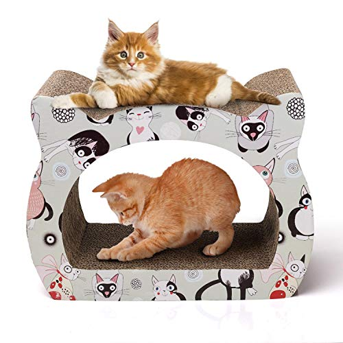 Nobleza – Katzenkratzbrett mit Katzenminze Kratzbrett für Katzen Kätzchen Kratzspielzeug Lounge Kartonkratzer, 39 * 29…