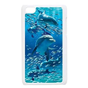 Dolphins High Quality Pattern Hard Case Cover for Ipod Touch 4 Case HSL387197