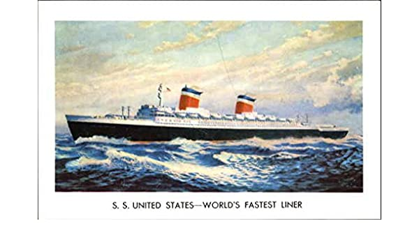Amazon com: S  S  United States World's Fastest Liner Boats Ships