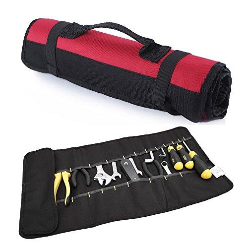 Fafada 22 Fäche Gabelschlüsselsatztasche Schraubenschlüsseltasche Schraubendrehersatztasche Kombizangetasche Rolltasche Werkzeuge TASCHE ohne Werkzeuge