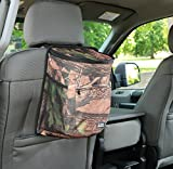 Clean Ridez Car Garbage Can w/Ez Flip Lid & Leakproof Removable Liner - Auto Trash Bag & Car Cooler with Bottle Holders and Extra Storage Pocket (Hunting Camouflage)