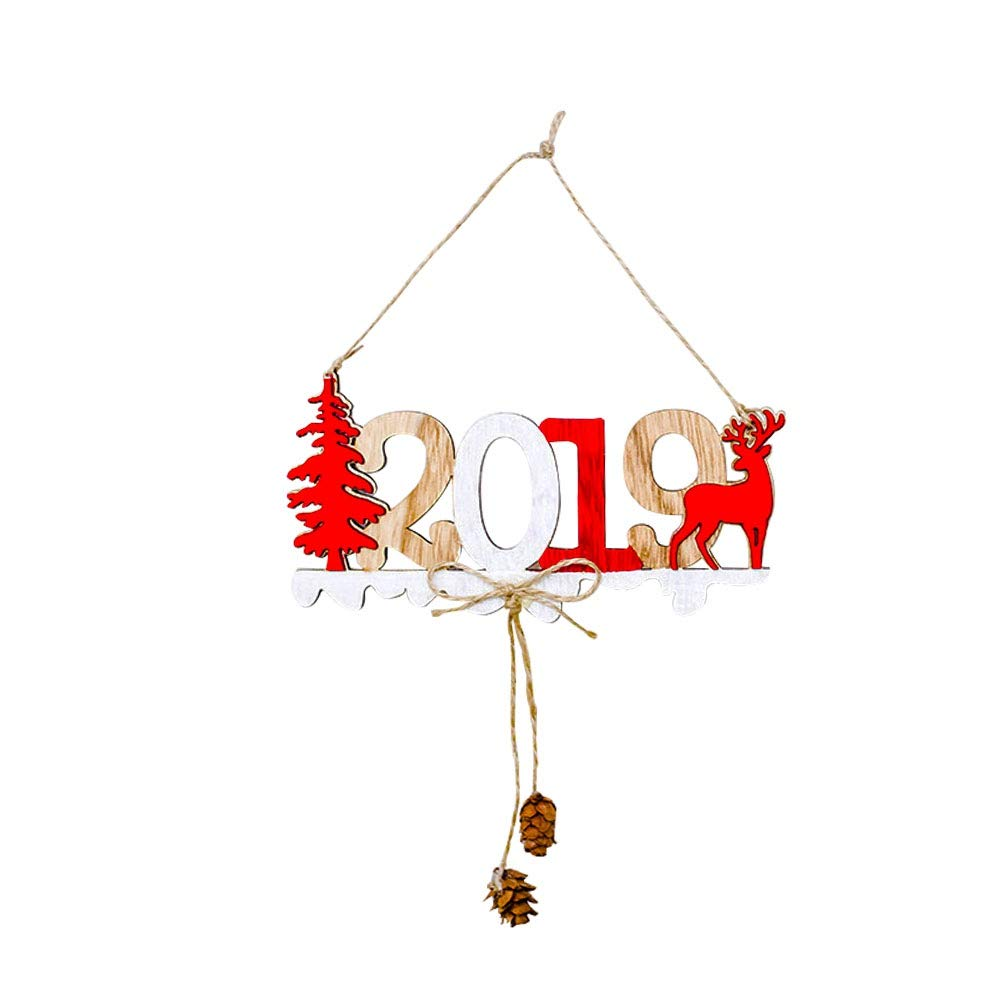 Letter Hanging Card Door Wall Pendant Wooden Sign Christmas Hollow-Out Patternd Wreath Garland Home Office Shops School Decoration Xmas 2019