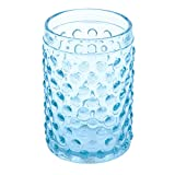 Creative Home 85318 Transparent Blue Dot Glass Tumbler, Toothbrush Holder Bath Set