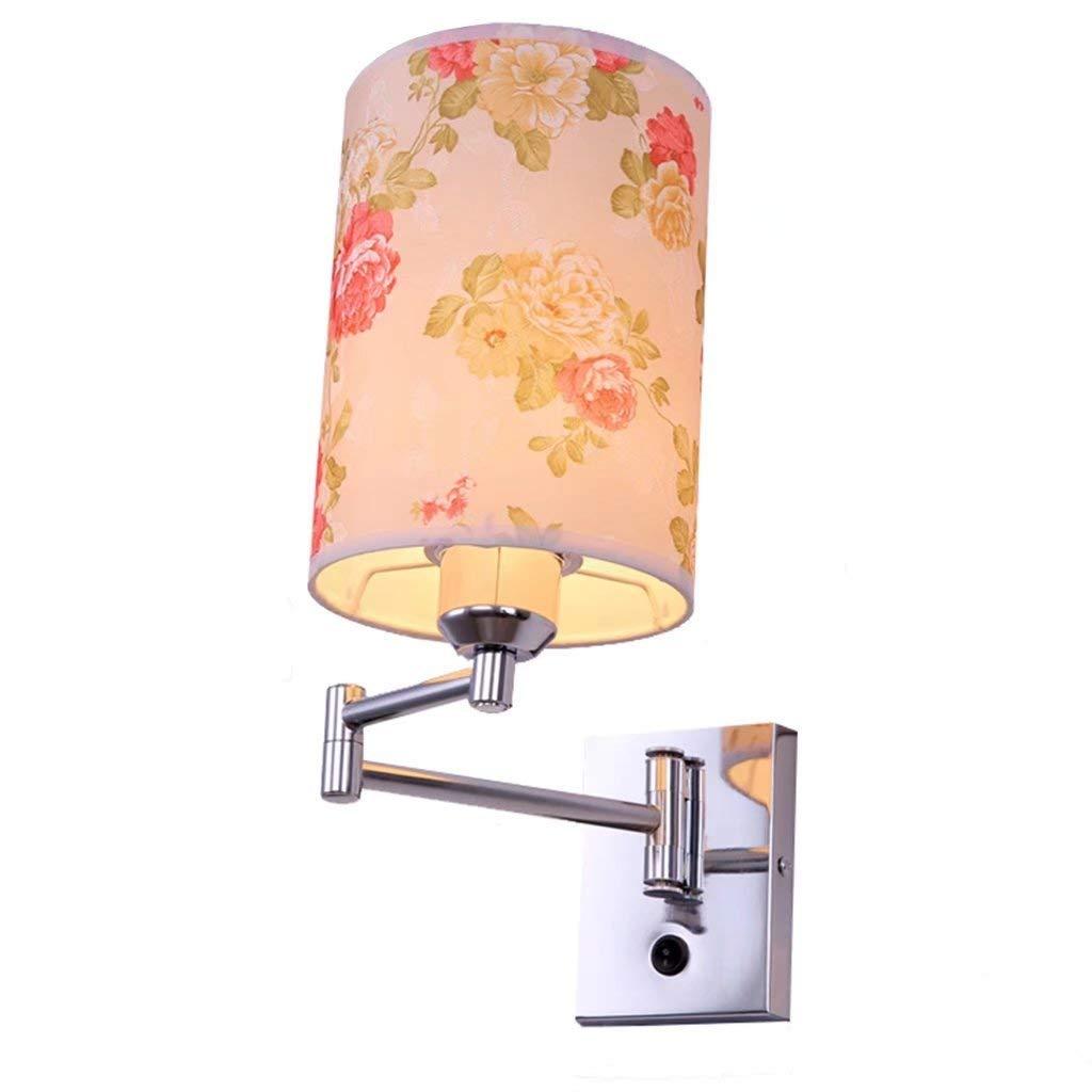 BXJ 創造的なLEDスイッチランプが付いている現代ミニマリストの寝室の壁ランプの枕元のランプ B07R9MW8FW