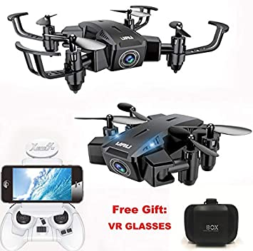 Cr RC Plegable Mini, Drone Regalo para niños/Adultos, 6 Ejes Gyro ...