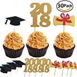 #7: 30pcs Graduate Cupcake Topper 2018 Graduation Party Supplies