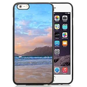 NEW Unique Custom Designed iPhone 6 Plus 5.5 Inch Phone Case With Mountains Background Beach Waves_Black Phone Case wangjiang maoyi