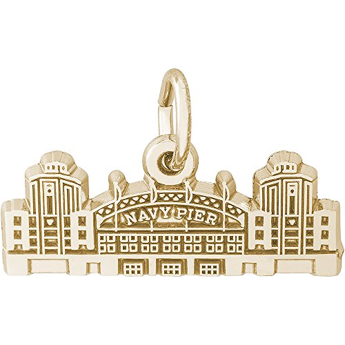 Rembrandt Charms 14K Yellow Gold Navy Pier Charm (8 x 21 mm)