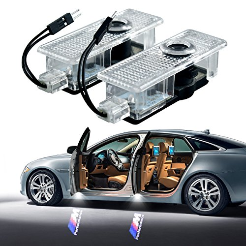 Price comparison product image Car Door LED Step Ghost Shadow Projector Courtesy Welcome Light for BMW M Performance BMW E60 E90 F10 F15 F16 F30 M3 M5 F01 F02 GT