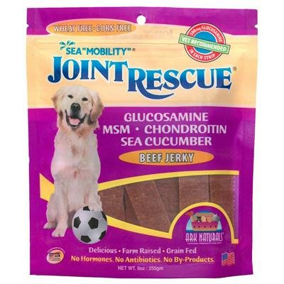 Ark Naturals Sea Mobility Joint Rescue Beef Jerky for Dog, 9 Ounce - 3 per case.