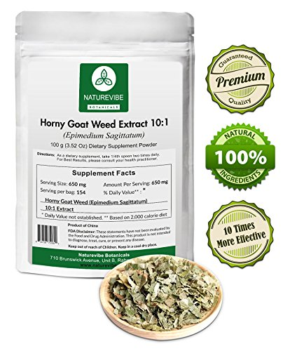 Horny Goat Weed Extract 20:1 (100 Grams) - Extra Strength Formula (Genuine Goat)