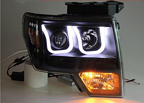 GOWE Car Styling For Ford Raptor headlights 2009-2014 head lamp led DRL front Bi-Xenon Lens Double Beam HID KIT Color Temperature:6000k;Wattage:55w 2