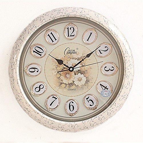 ZHI Silent Wall Clock, Non-Ticking Mute Wall Clock Stereo Wall Clock Living Room Wall Chart Quartz Clock ,20 In.