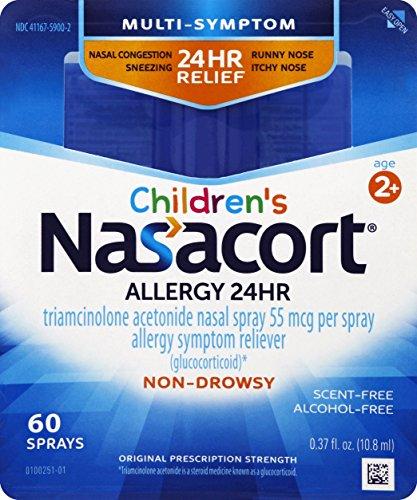 Nasacort Children's Allergy Spray, 0.37 Fluid Ounce (Swift Burn Spray)