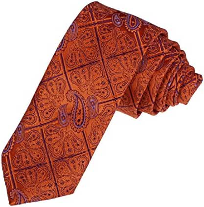 DAE7B04-06 Happy Mens Gift Microfiber Patterned Birthday Skinny Tie By Dan Smith