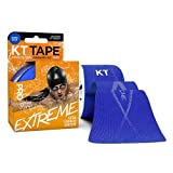 KT Tape Pro Extreme Max Strength Water Resistant Kinesiology Tape (Sonic Blue Extreme) - Roll of 20 Precut 10'' X 2'' I-Strips - Breathable, Elastic, 100% Synthetic Fabric, Pro & Olympic Choice