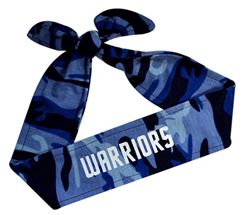 Funny Girl Designs Camouflage Unisex Tie Back Sport Headband with Your Custom Team Name or Text in Vinyl